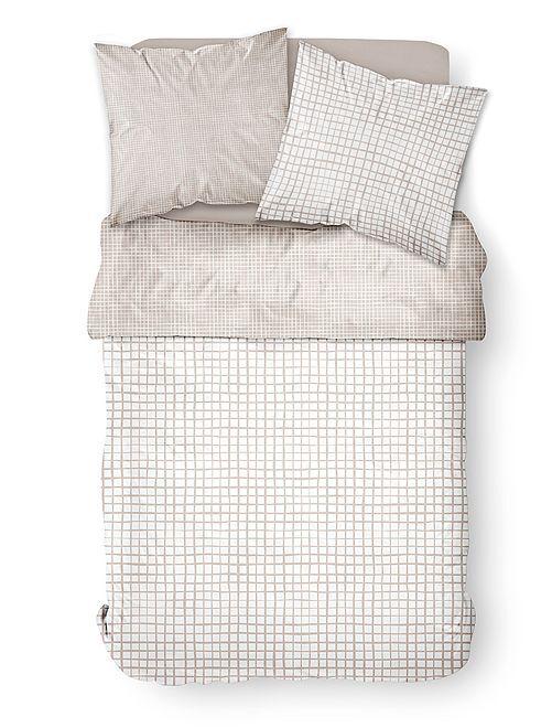 Parure de lit 2 personnes                             beige