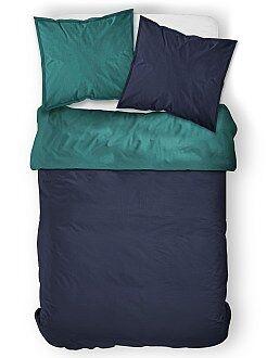 parures de lit adulte linge de maison kiabi. Black Bedroom Furniture Sets. Home Design Ideas