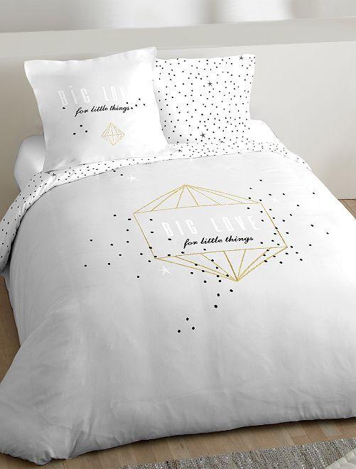 Parure de lit 2 personnes 'Big Love'                             gris Linge de lit
