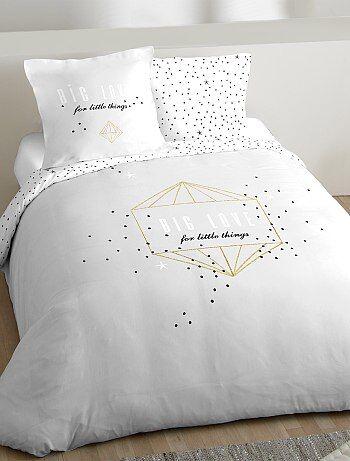 Parure de lit 2 personnes `Big Love`