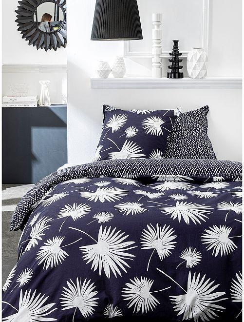 Parure de lit 2 personnes                             bleu marine