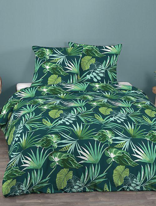 Parure de lit 2 personnes                             bleu/vert