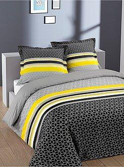 Linge de lit adulte - Parure de lit 2 personnes en coton 'geométrique'