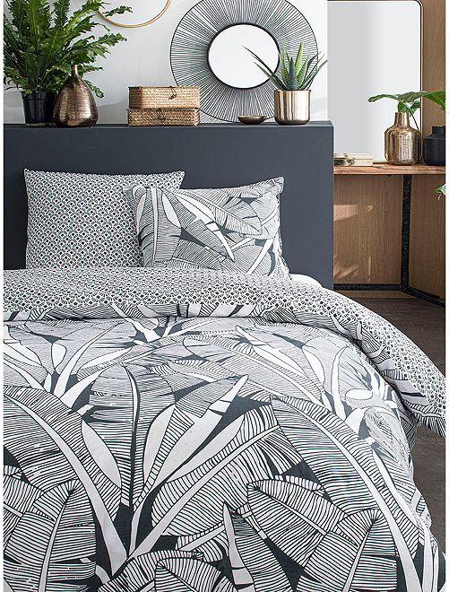Parure de lit 2 personnes                             gris
