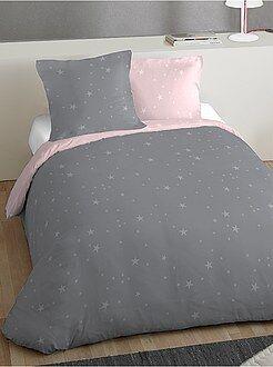 parure de lit 2 personnes imprimée 'étoiles' - Kiabi
