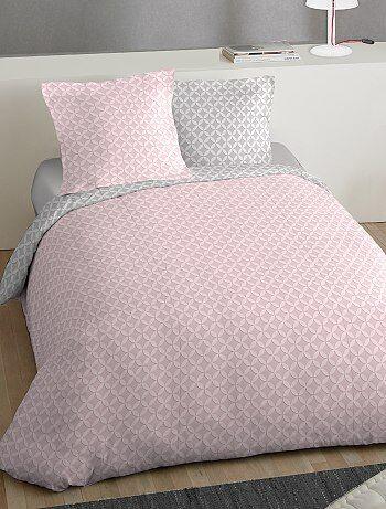 parure de lit 2 personnes imprime rosace - Parure De Lit Rose Poudre