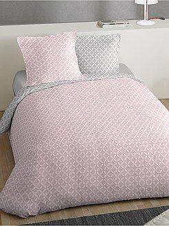 Parure de lit 2 personnes imprimée 'rosace' - Kiabi