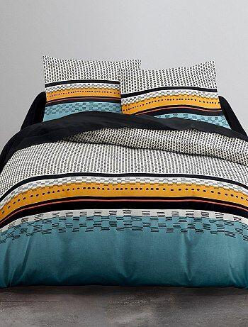 Parure de lit 2 personnes micro motifs