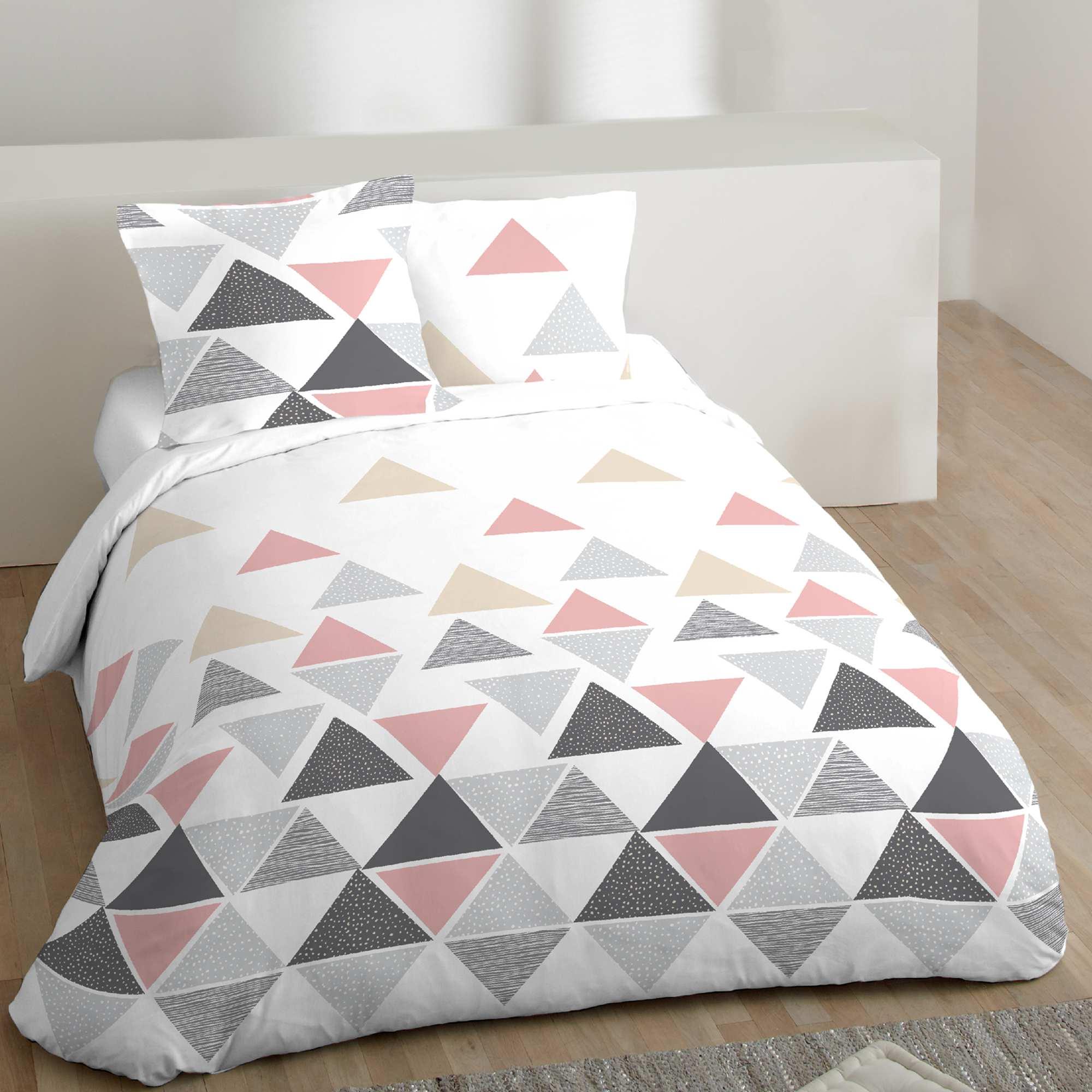parure de lit 2 personnes motifs g om triques linge de lit. Black Bedroom Furniture Sets. Home Design Ideas