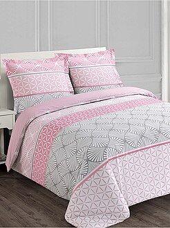 Parure de lit 2 personnes motifs géométriques - Kiabi