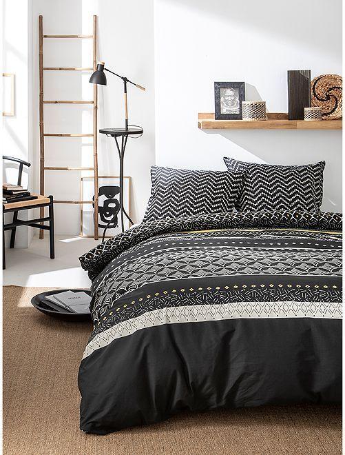 Parure de lit 2 personnes                             noir