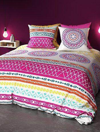Parure de lit 2 personnes pur coton