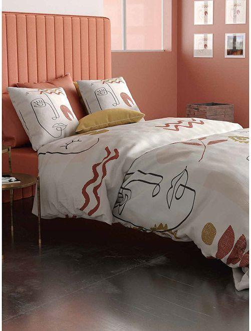 Parure de lit 2 personnes                             rose