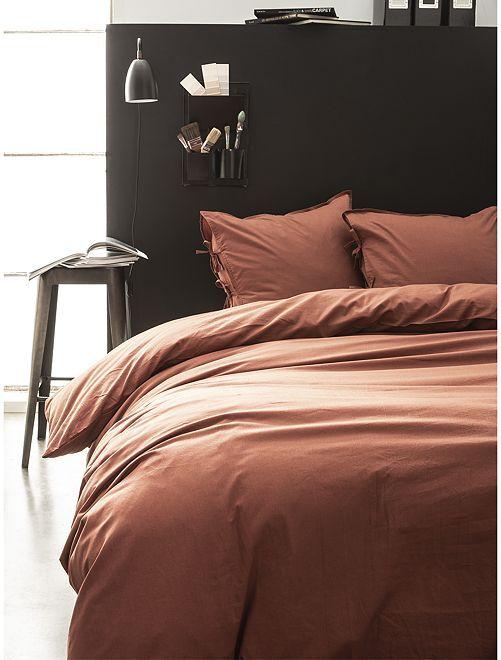 Parure de lit 2 personnes                             terracotta