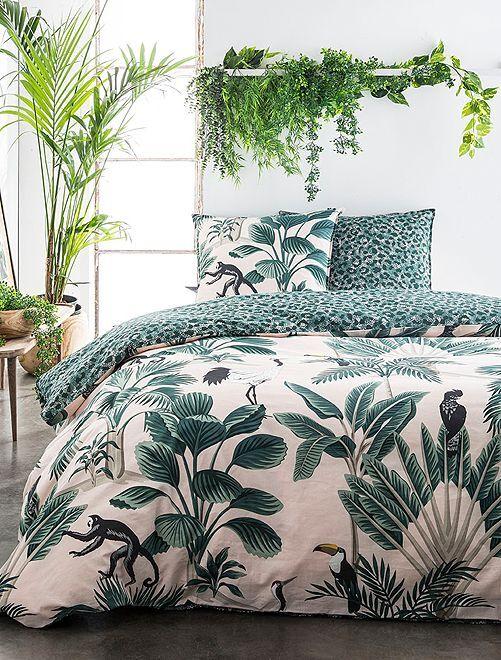 Parure de lit 2 personnes                             vert