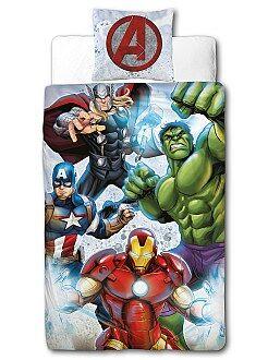 Linge de lit enfant - Parure de lit 'Avengers' de 'Marvel' - Kiabi