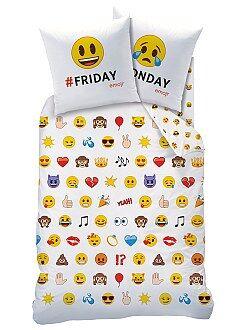 Linge de lit enfant - Parure de lit 'Emoji' - Kiabi