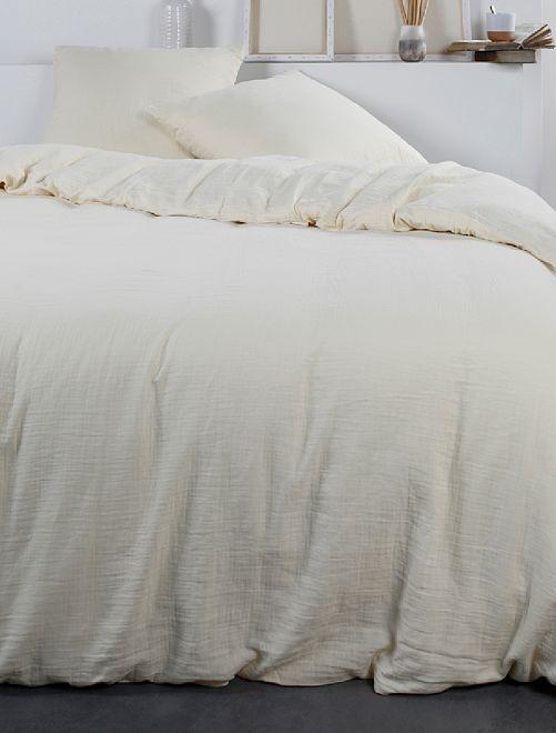 Parure de lit en gaze de coton                                                     beige