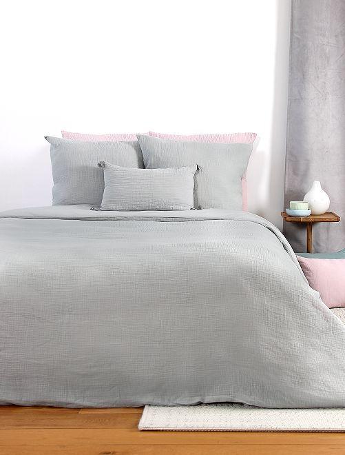Parure de lit en gaze de coton                                                                                                     gris