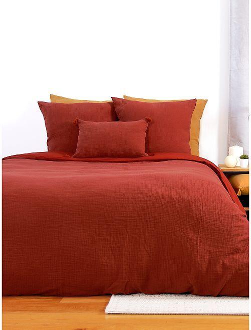 Parure de lit en gaze de coton                                                                                                     rouge