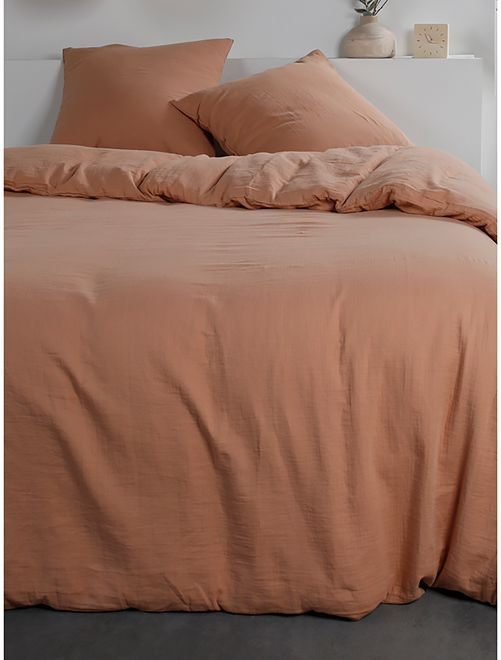 Parure de lit en gaze de coton                                                     terracota