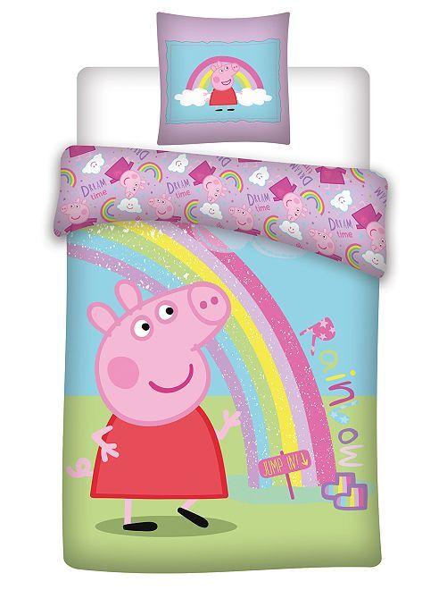 Parure de lit en microfibre 'Pegga pig'                             BLEU