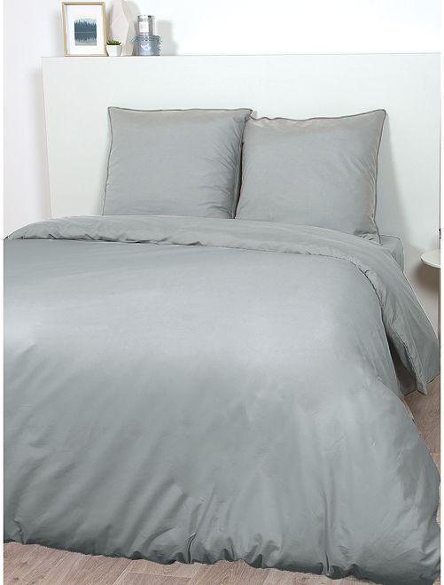 Parure de lit en satin de coton                                                                             gris