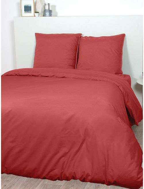 Parure de lit en satin de coton                                                                             rouge