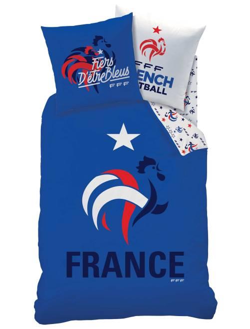 Parure de lit 'Equipe de France de foot'                             bleu Linge de lit