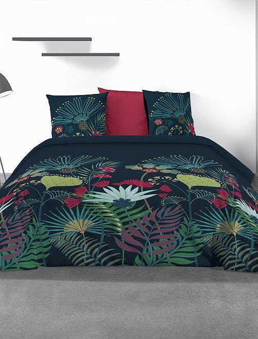Parure de lit fleurie 2 personnes                             multicolore