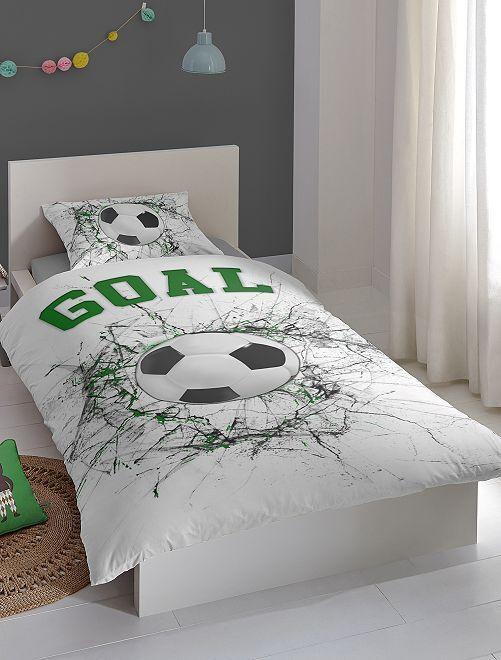 Parure de lit 'foot' une place                             blanc