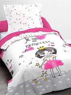 Parure de lit imprimé 'princesse' housse + taie - Kiabi