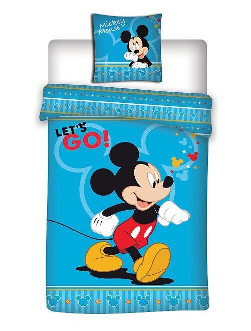 Parure de lit imprimée 'Mickey Mouse' de 'Disney'                             bleu Linge de lit