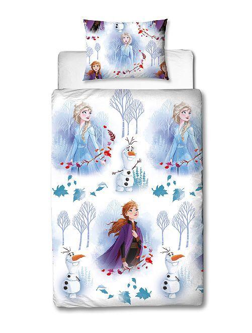 Parure de lit 'La Reine des Neiges' 1 personne                             blanc