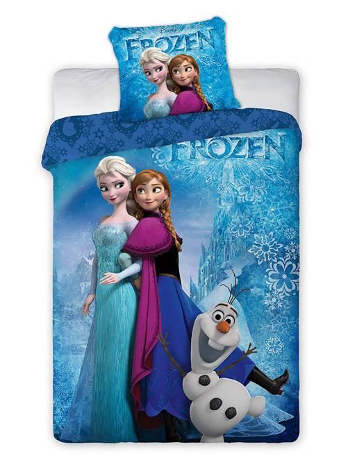 Parure de lit 'La Reine des neiges'                             bleu Linge de lit
