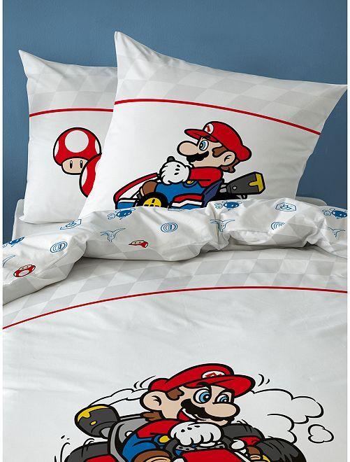 Parure de lit 'Mario Kart'                             blanc