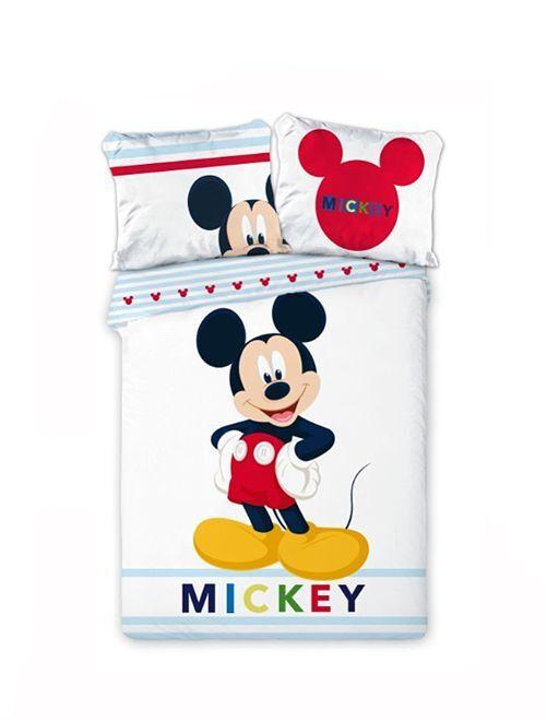 Parure de lit 'Mickey' 'Disney' réversible                             blanc