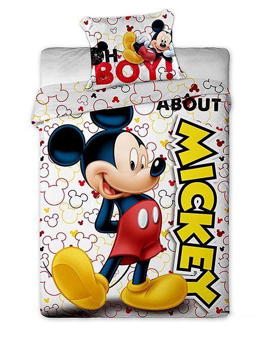 Parure de lit 'Mickey Mouse'                             blanc Linge de lit