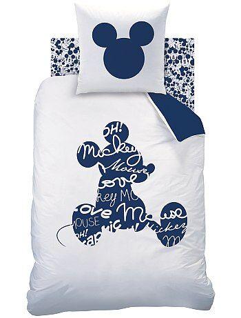 Parure de lit `Mickey` réversible pour