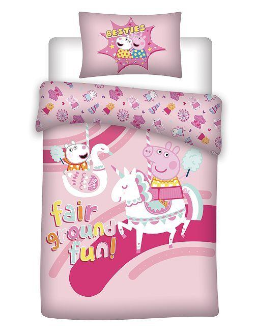 Parure de lit 'Peppa Pig'                             rose