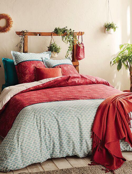Parure de lit percale                             rouge
