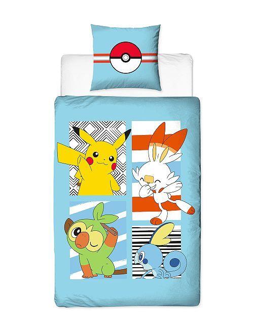 Parure de lit 'Pokemon' 1 place                             bleu