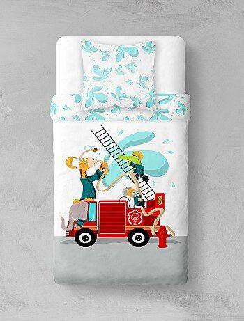 Parure de lit `Pompiers animaux`