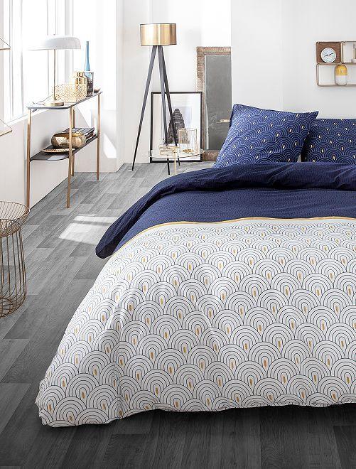 Parure de lit réversible                             bleu