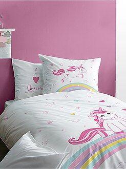 Parure de lit réversible 'licorne' - Kiabi