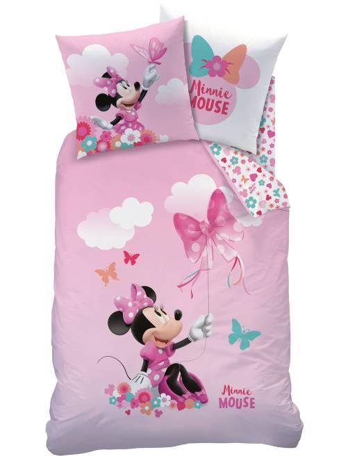 parure de lit r versible 39 minnie 39 linge de lit rose kiabi 35 00. Black Bedroom Furniture Sets. Home Design Ideas