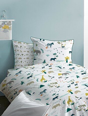 Parure de lit réversible 'safari' - Kiabi