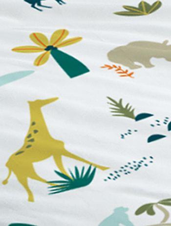 linge de lit safari Parure de lit réversible 'safari' Linge de lit   blanc   Kiabi  linge de lit safari