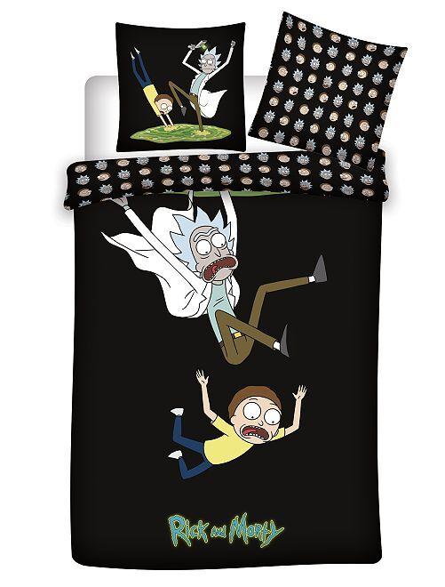Parure de lit 'Rick et Morty'                             noir