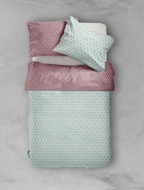 Parure de lit 'rosace'                             bleu